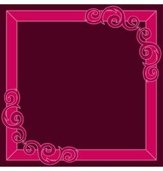 Crimson decorative ornate frame vector image vector image