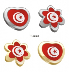 flag of Tunisia vector image vector image