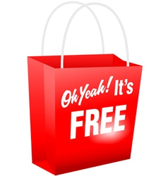 retail giveaway oh yeah its free red shopping bat vector image vector image