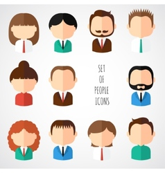Set of colorful office people icons Businessman vector image vector image