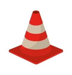 traffic cone warning sign design vector image