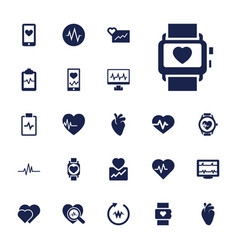 22 heartbeat icons vector