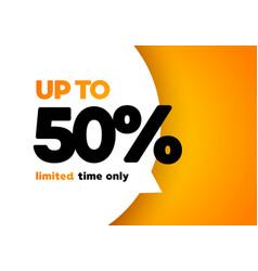 50 percent mega discount sale banner vector image