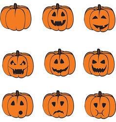 a set pumpkins vector image