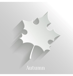 Abstract Maple Leaf on White Background vector