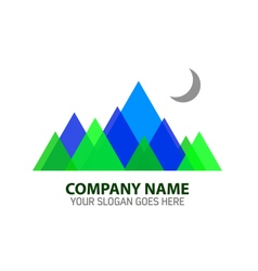Abstract Mountain Logo Template vector image