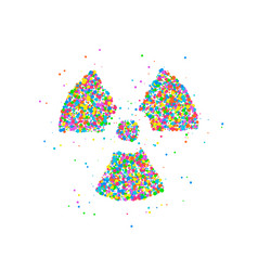 Abstract radiation icon vector