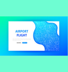 airport landing page vector image