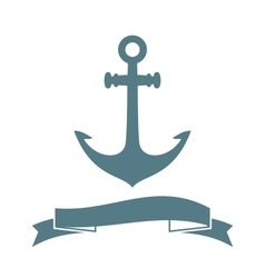 Anchor badge vector