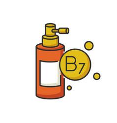 b7 biotin in liquid form rgb color icon vector image