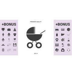 Baby carriage icon - graphic elements for your vector