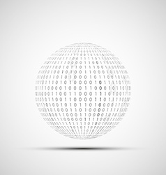 Ball of binary code vector image vector image