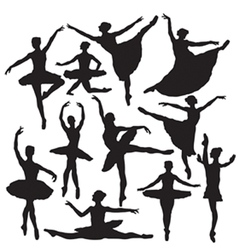 ballet silhouette vector image