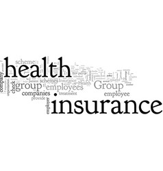 Benefits group health insurance vector