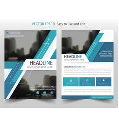 blue annual report leaflet brochure flyer vector image