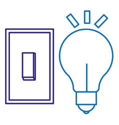 bulb light with switch vector image