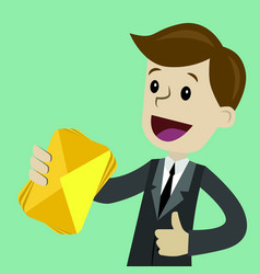 businessman or manager has a lot of emails he vector image