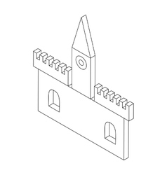 Castle icon isometric 3d style vector