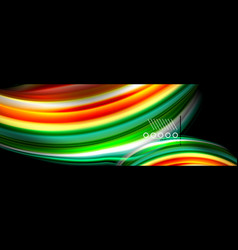 color flow poster wave liquid shape color vector image