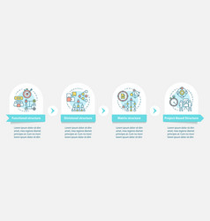 corporate structure infographic template vector image