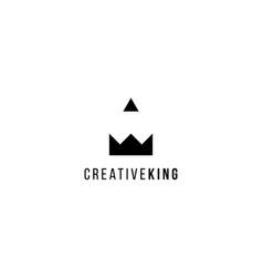 creative king logo design concept vector image