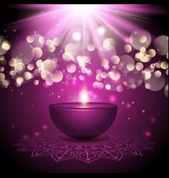 diwali lamp background vector image