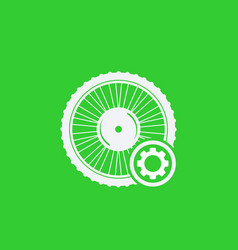Electric bike wheel service icon vector