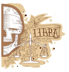Engraving libra vector image