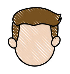 face head man father male image vector image