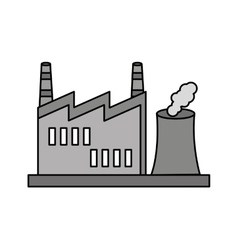 factory building isolated icon vector image