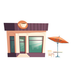 fast food coffee restaurant street table umbrella vector image