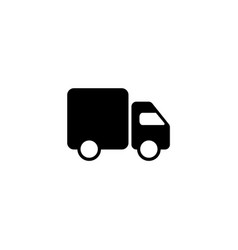 fast shipping delivery truck line icon design vector image