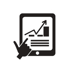 Flat icon in black and white financial vector