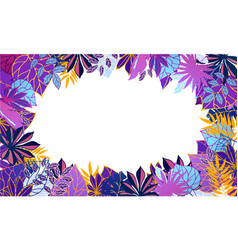 fluorescent ultraviolet exotic tropical leaves vector image