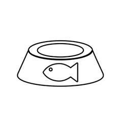 food fish love pet animal icon graphic vector image
