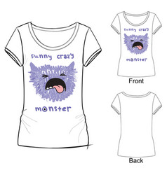 Funny crazy monster vector