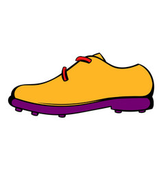 Golf shoe icon icon cartoon vector