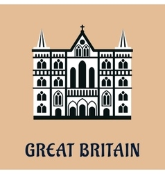 Great Britain landmark flat icon vector image