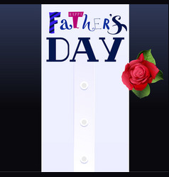 Happy fathers day lettering text template greeting vector