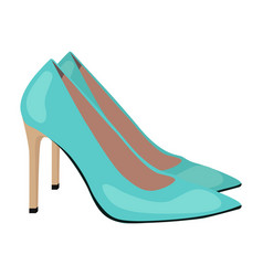 High heeled shoes icon on a white vector