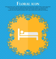 Hotel Floral flat design on a blue abstract vector image