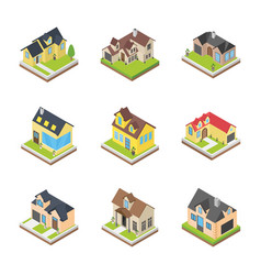 houses architectures icons vector image