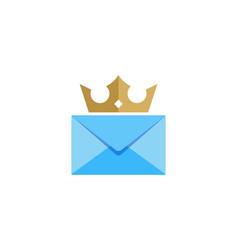 king mail logo icon design vector image