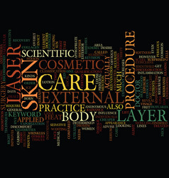 Laser skin care text background word cloud concept vector