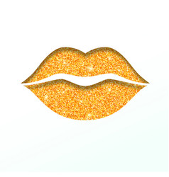 Lips icon with glitter effect isolated on white vector