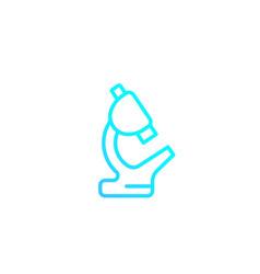 Microscope minimalistic icon linear style vector