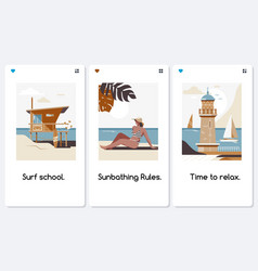 mobile app onboarding screens travel vacation vector image