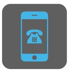 Mobile Phone Rounded Square Icon vector