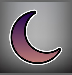 moon sign violet gradient vector image