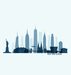 new york skyline building city vector image